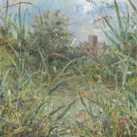 Through Reeds to St Cross ( 75 x 51 cm)