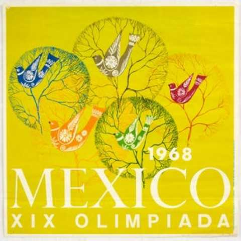 Mexico Olympics 1968 AntikBar.co.uk Vintage Poster Auction 1 August