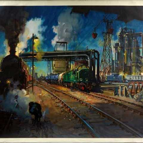Service to Industry British Railways by Cuneo AntikBar.co.uk Vintage Poster Auction 1 August