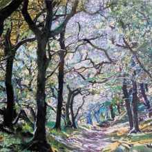 Badgeworthy Wood, Exmoor, Devon Oil on canvas, 70 x 100cm