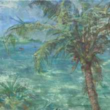 Clear Water and Coconut Palm ( 32 x 44 cm )