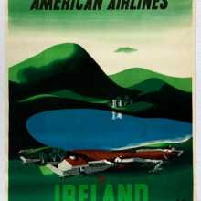 American Airlines Ireland by McKnight Kauffer AntikBar.co.uk Vintage Poster Auction 1 August