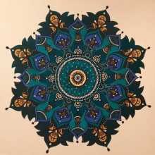 Painting of a Mandala Oil on Canvas