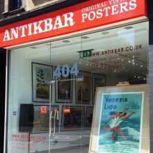 AntikBar Original Vintage Poster Gallery London